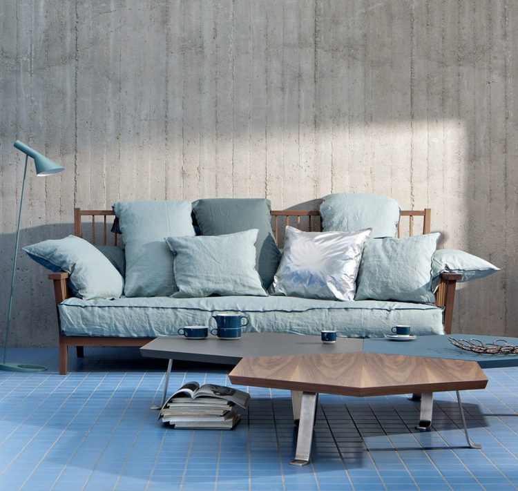italienische sofas überzeugen mit stil und qualität - Wohnzimmer Blau Holz