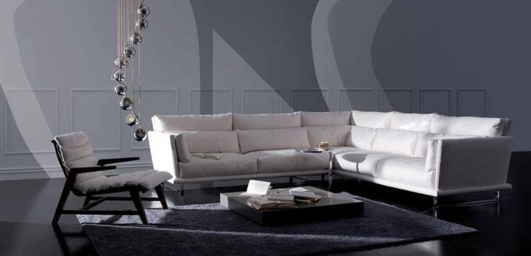 italienisches sofa italienische designermöbel weiß gepolstert