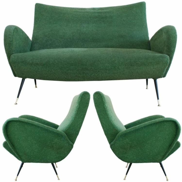 italienische sofas italienische designermöbel wohnzimmer set grün