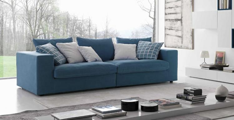 italienisches sofa italienische designermöbel wohnzimmer sofa blau