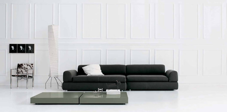italienische sofas italienische designermöbel wohnzimmer sofa schwarz