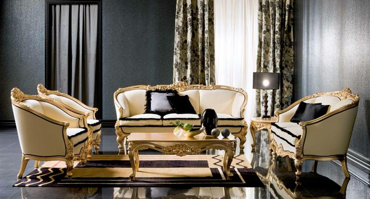 italienische sofas italienische stilmöbel goldakzente