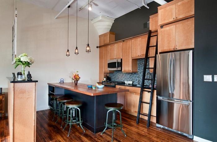 küchendesign funktionaler raum farbkontrast