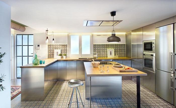 küchendesign blech industrieller look