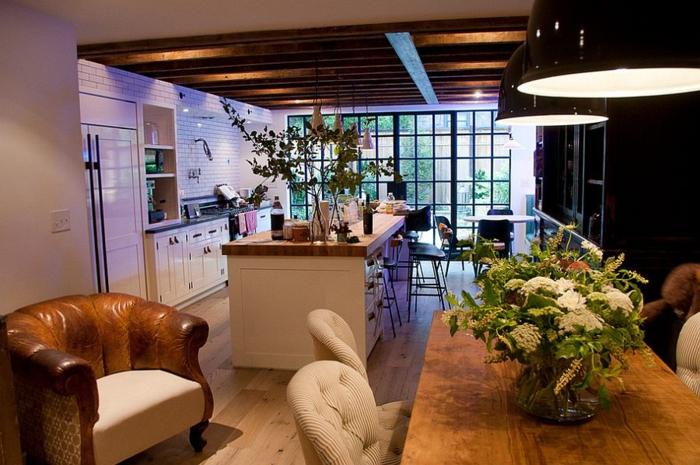 küchendesign kleine küche industrieller look