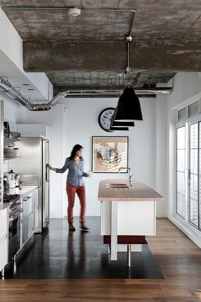 küchendesign minimalistisch induatriell zugleich