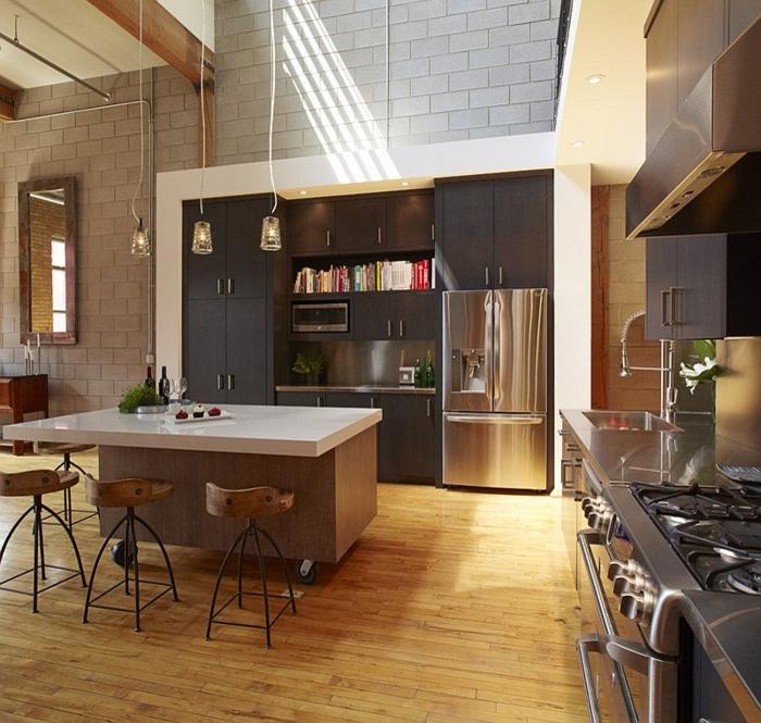 kücheneinrichtung küche einrichten industrieller stil
