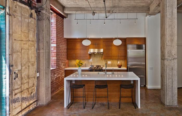 kücheneinrichtung küchenschränke bambus wärme gemütlichkeit