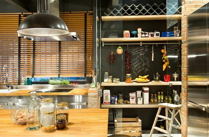 küchendesign kleine küche gestalten industriell