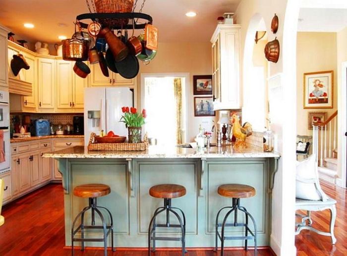 kücheneinrichtung kombination industrieller stil landhausstil