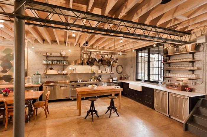 kücheneinrichtung offene regalsysteme coole beleuchtung