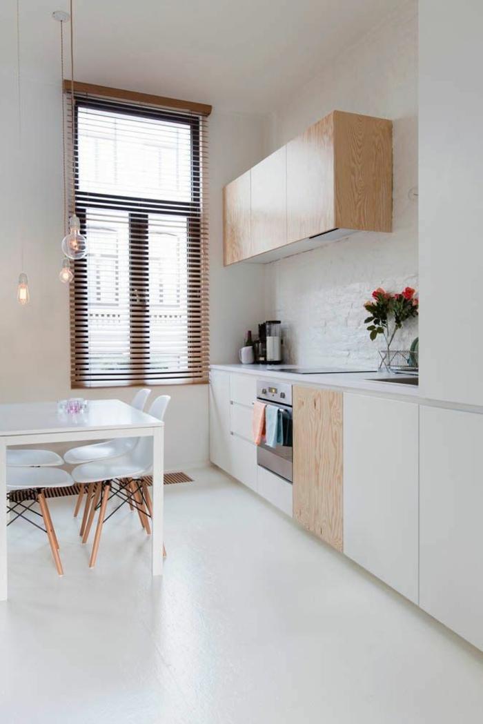 küchengestaltung ideen frisches ambiente weißer esstisch