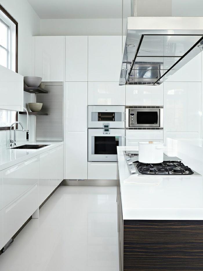 küchengestaltung weiß schöne texturen kombinieren
