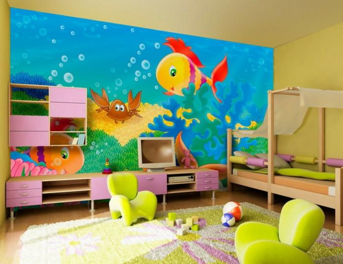 kinderteppich farbiges design wunderschöne wanddeko