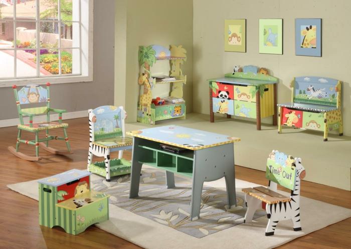 kinderzimmer gestalten möbel design lustige deko teppich