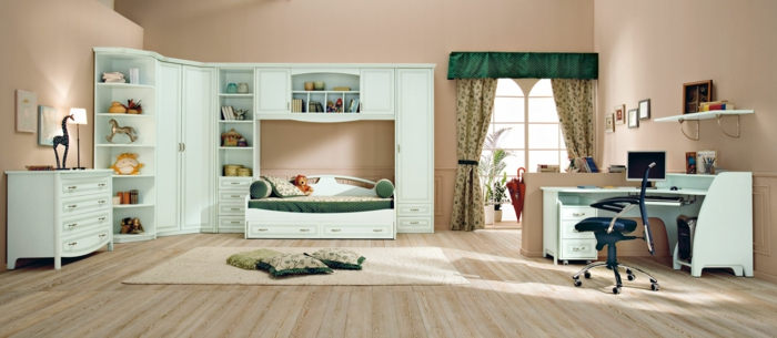 kinderzimmer gestalten möbel elegant kompakt funktional