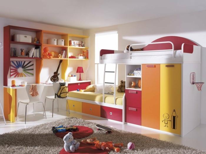 kinderzimmer gestalten schöne möbel teppich