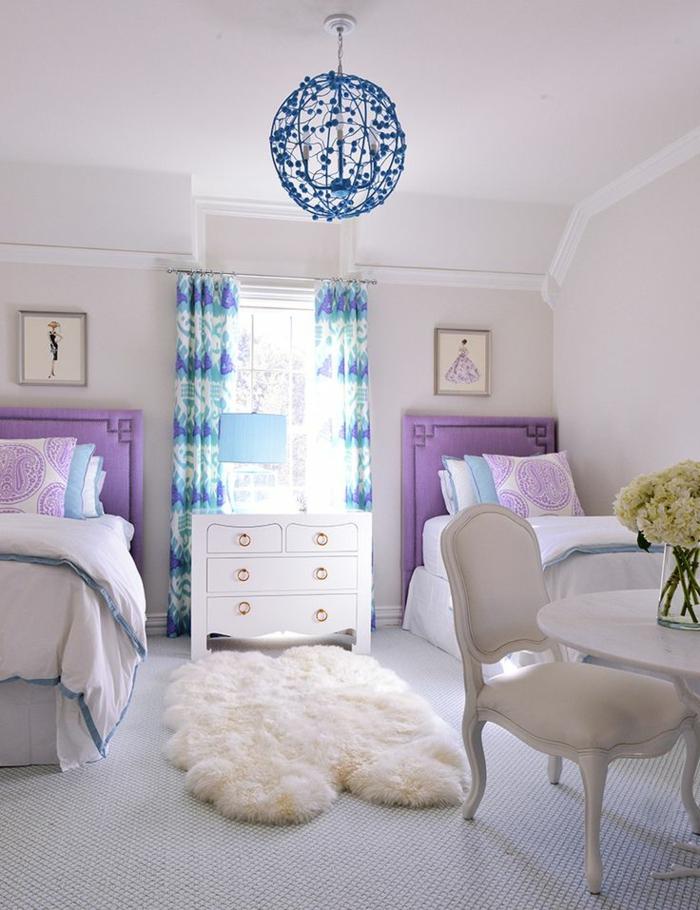 kinderzimmerlampen cooler leuchter blau mädchenzimmer