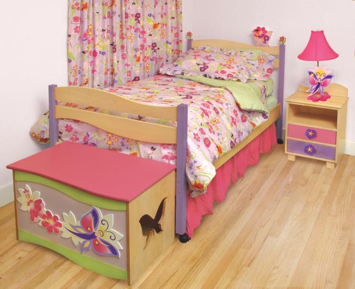 kinderzimmerlampen mädchenzimmer einrichten florale elemente