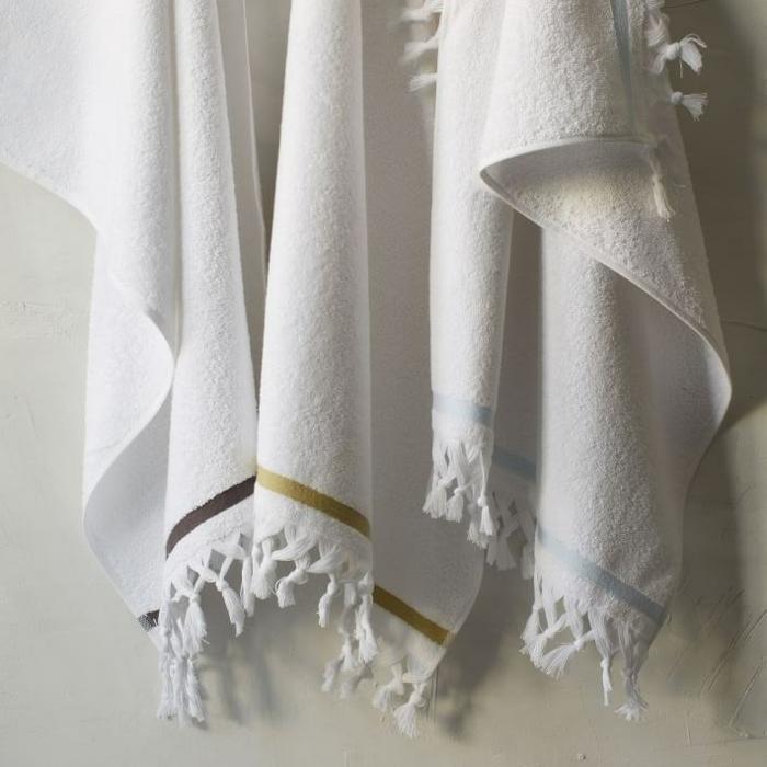 kissen design handtücher quasten weiß