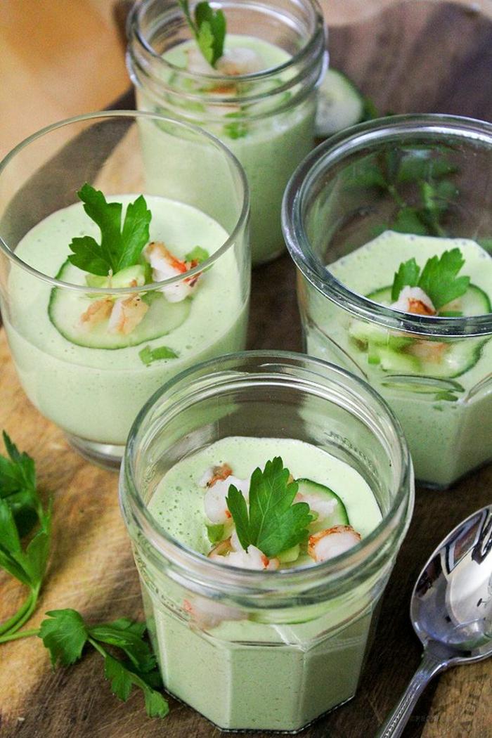 kochen mit wasabi gurken wasabi gazpacho