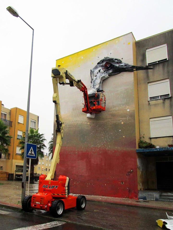 kunst aus müll Bordalo Segundo recycling kunst arbeitsverlauf