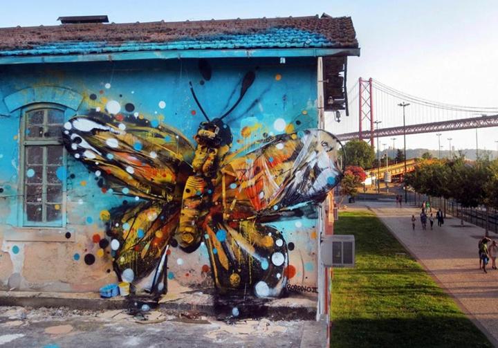 kunst aus müll Bordalo Segundo recycling kunst schmetterling