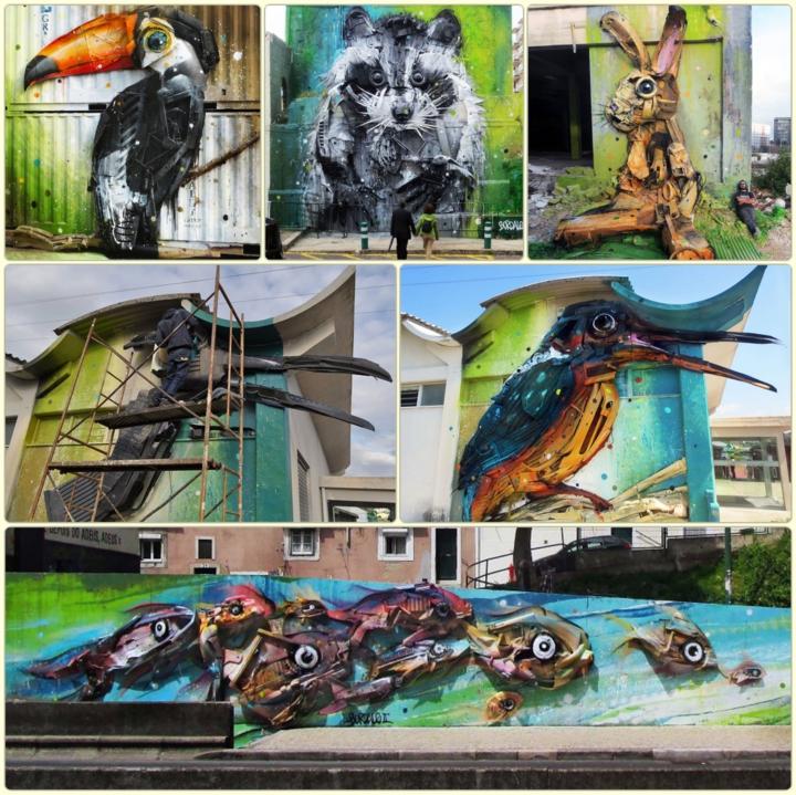 kunst aus müll Bordalo streetart künstler Segundo recycling kunst