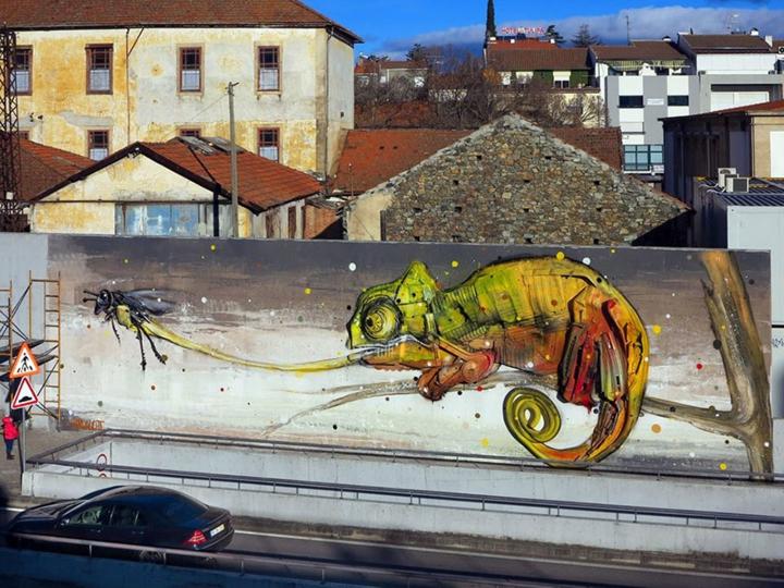 kunst müll streetart künstler Bordalo Segundo eidechse