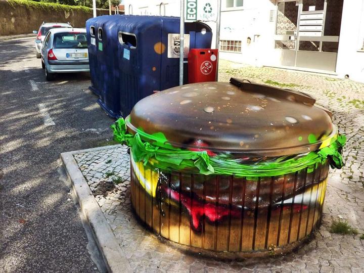 kunst müll streetart künstler Bordalo Segundo hamburger