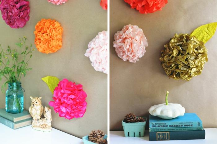 kunstblumen papierblumen papierrosen bunt taschentücher