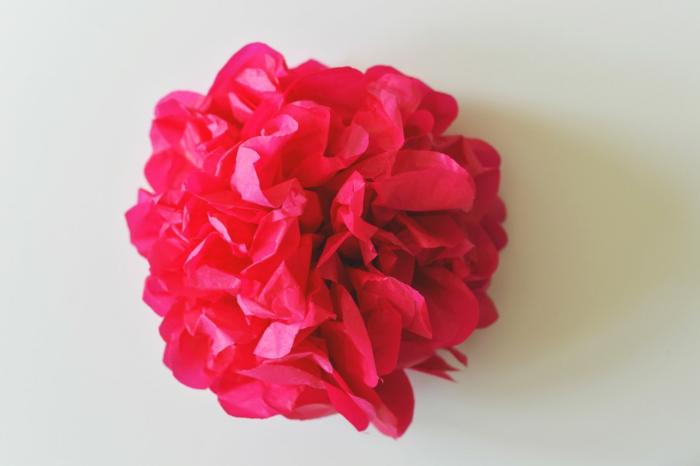 kunstblumen papierblumen pinke rose