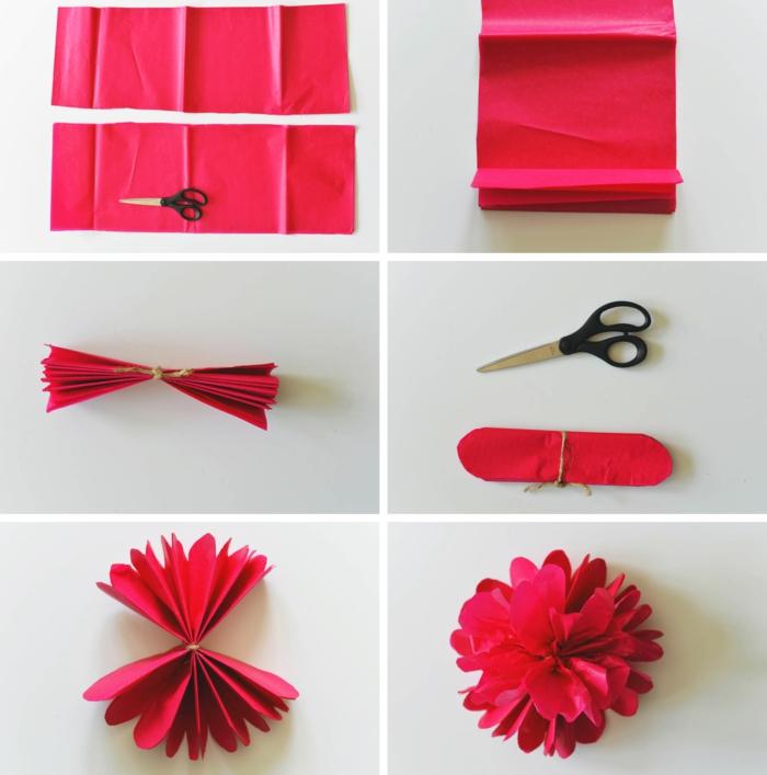 kunstblumen papierblumen taschentuch anleitung