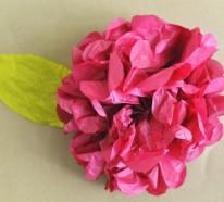 Herrliche Kunstblumen aus Taschentüchern selber basteln