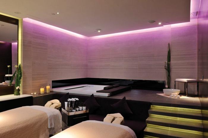 lavendel farbe modernes interior led beleuchtung