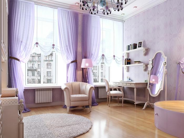lavendel farbe neobarock stil deko gardinen