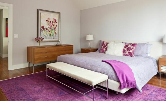 lavendel farbe tagesdecke violete wolldecke teppich
