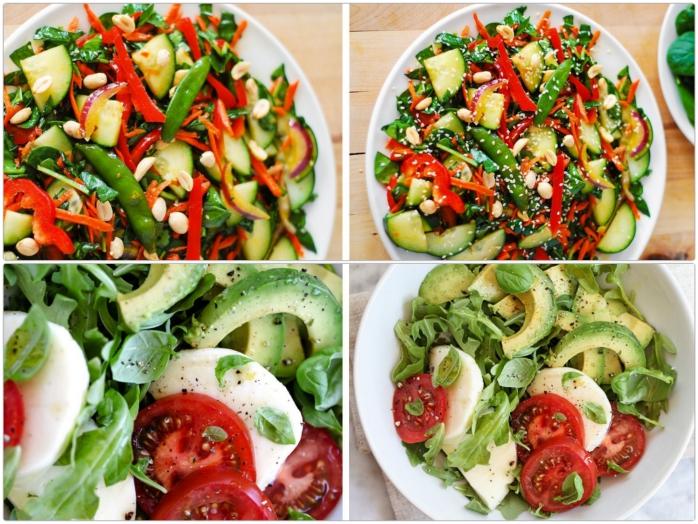 leckere salate zum abnehmen salatrezepte avocado thomaten mozzarella
