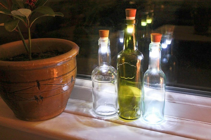 led leuchte glasflaschen deckel leuchten