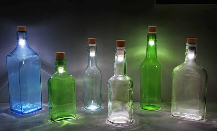 led leuchte glasflaschen flaschendeckel