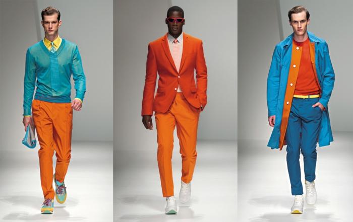 männerbekleidung tendenzen grelle farben modetrends