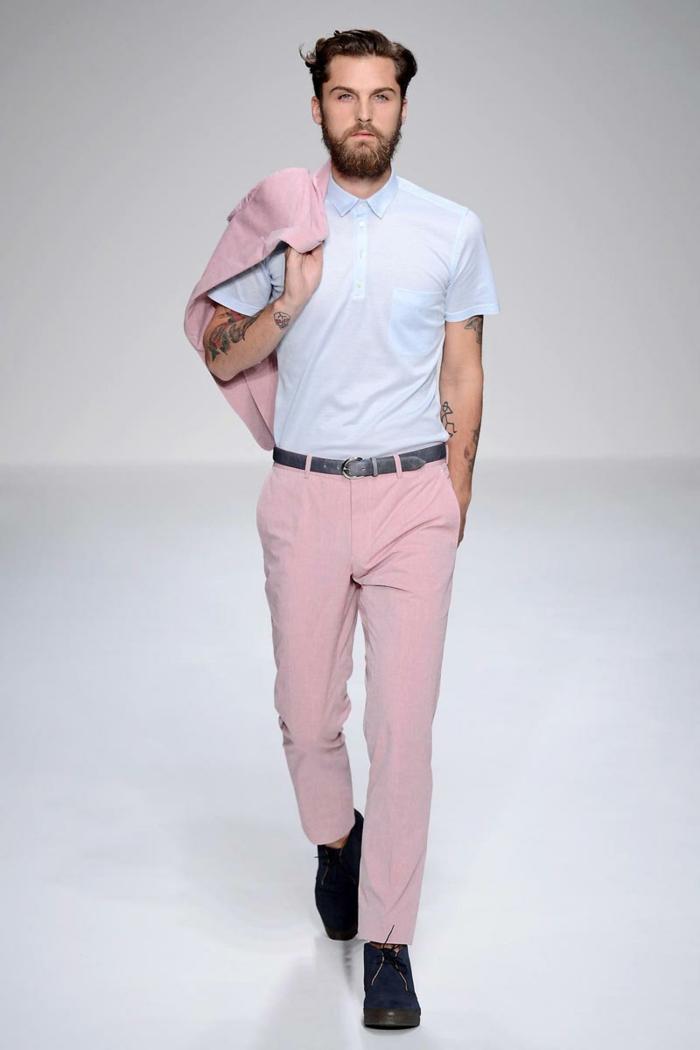 männerbekleidung tendenzen trendfarbe rosa modetrends unisex