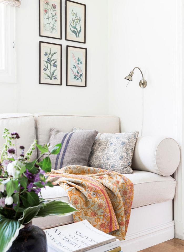 möbel landhausstil wohnzimmer weißes sofa