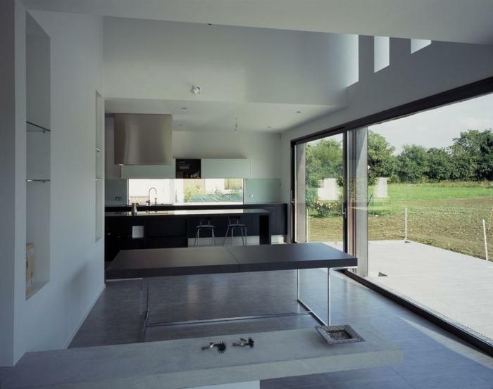 modern einrichten schicke küche kücheninsel