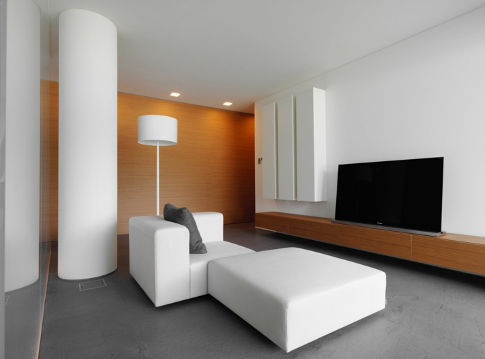 Modern Einrichten Weiße Möbel Sideboard Minimalistisch