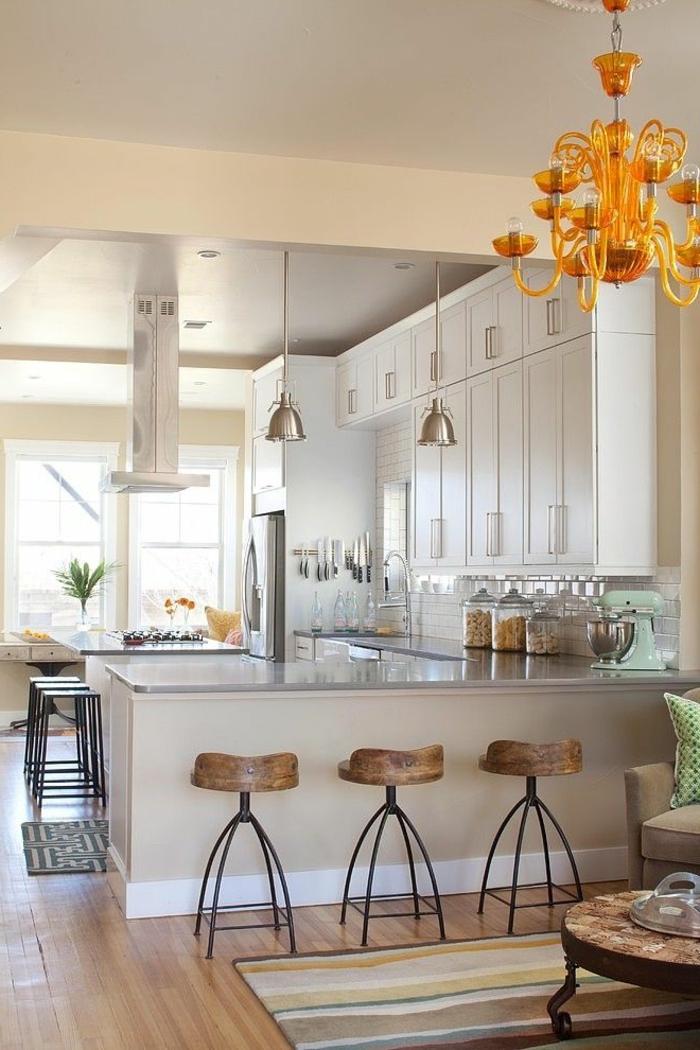 moderne küchen gemütliches design teppichläufer