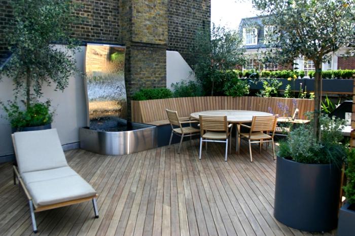moderne terrassengestaltung schönes exterieur kreieren außenmöbel