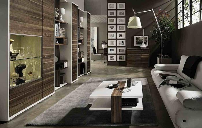 moderne wohnzimemrmöbel bequemes sofa toller couchtisch stehlampe