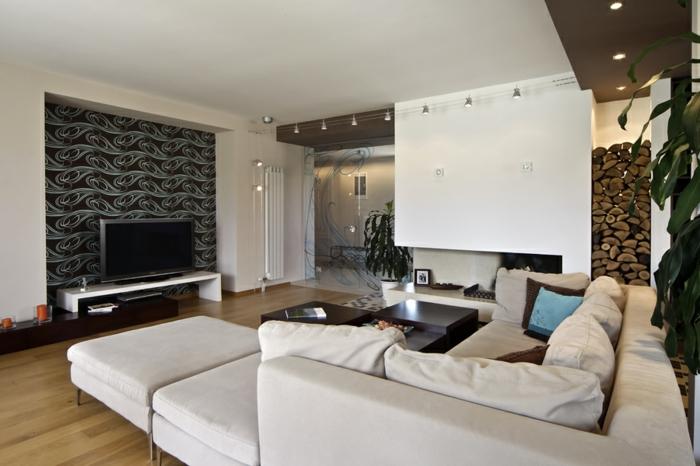 moderne wohnzimmermöbel ecksofa schöne akzentwand