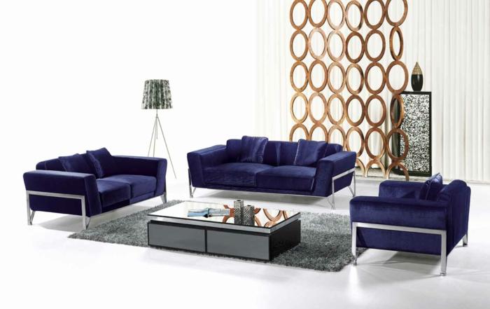moderne wohnzimmermöbel luxuriöse möbel dunkelblau